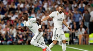 Vinicius could be away from Madrid for over a month. EFE