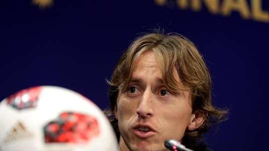 Modric a montré sa satisfaction du rôle de la Croatie cette année. AFP