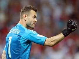 El guardameta firmó un Mundial de 2018 para el recuerdo. EFE