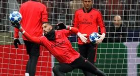 Kiko Casilla abandonará el Real Madrid en enero. EFE/Archivo