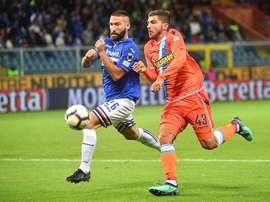 La Sampdoria sumó un nuevo punto en casa. EFE