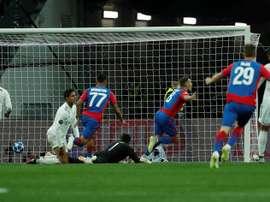 El CSKA le marcó al Madrid en el segundo minuto de juego. EFE