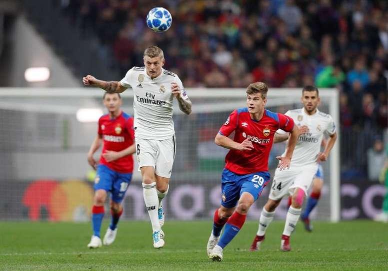 El Madrid es el segundo equipo que más pase realiza. EFE