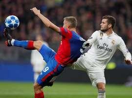 CSKA celebrate vs Real Madrid. Goal