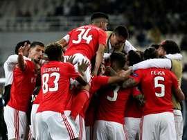 El Benfica ha jugado con 10 todo el segundo tiempo. EFE