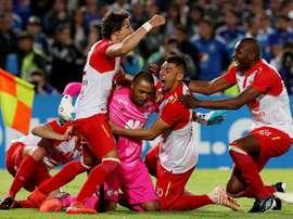 El duelo entre colombianos se lo lleva Santa Fe. EFE