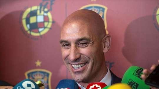 Rubiales mostró su apoyo a Luis Enrique. EFE/Archivo