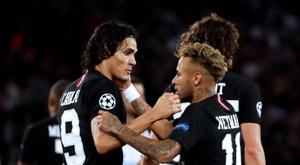Por motivos distintos, Neymar e Cavani não estão relacionados para esta quarta. EFE