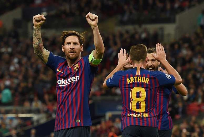 Messi n'a jamais marqué face à l'Inter. AFP