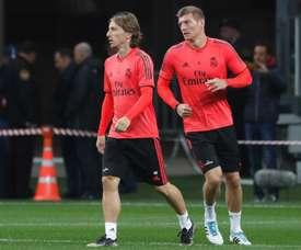 Zidane busca concorrência para Toni Kroos e Luka Modric. EFE/Arquivo