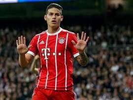 El Bayern no tendría intención de comprar a James. EFE/Archivo