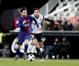 Lionel Messi equalised with a superb goal for barcelona. EFE