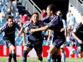 Leo Suárez confía en que la sequía goleadora acabe pronto. EFE/Archivo