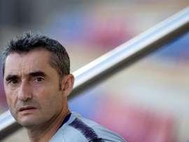 Valverde compareció en rueda de prensa. EFE