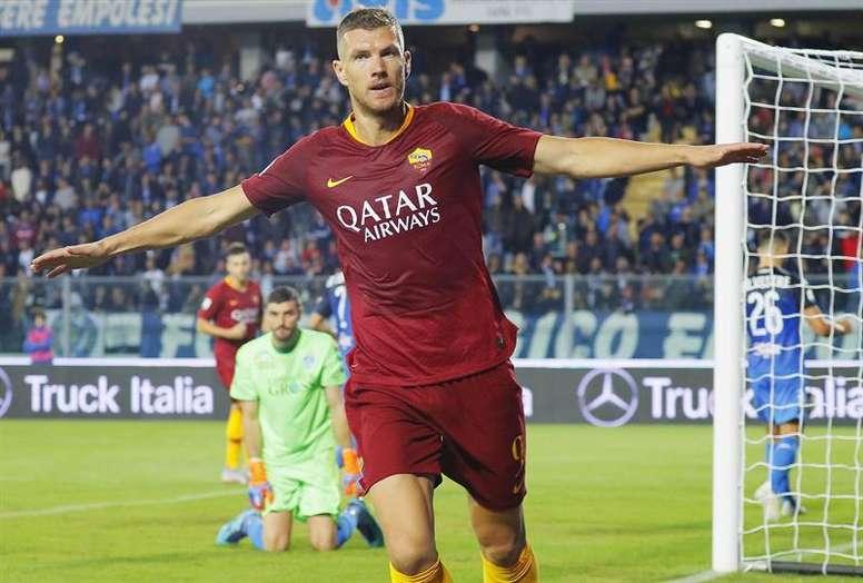 Dzeko lideró el triunfo de la Roma. EFE/EPA