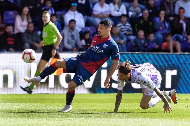 El Valladolid solo ha ganado una vez en su historia en El Alcoraz. EFE/Archivo