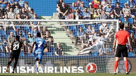 El Getafe acumula cuatro partidos sin ganar. EFE