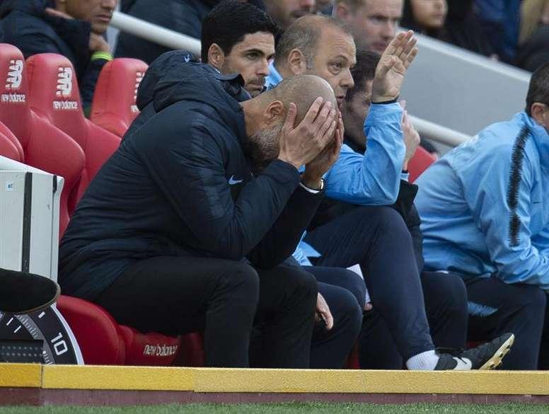 Guardiola s'est exprimé sur son ancien gardien. EFE/EPA