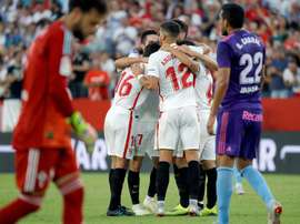 El Sevilla venció con contundencia al Celta. EFE