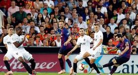 Valência é uma das vítimas prediletas de Messi. EFE