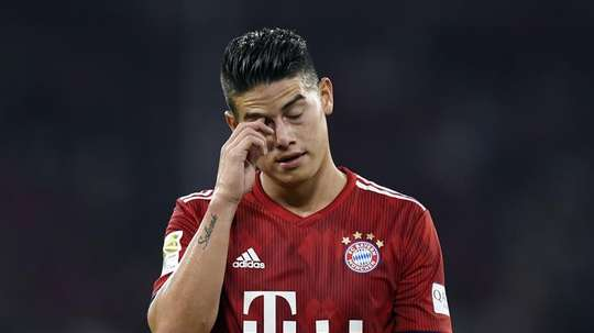 Rodriguez after the club's 0-3 home defeat to Borussia Monchengladbach at the Allianz Arena. EFE