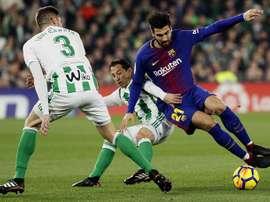 O Barça recebe o Betis. EFE