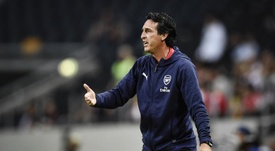 Unai Emery's Arsenal face Leicester on Sunday. EFE/EPA/Archivo