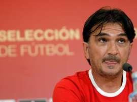 Dalic va parler avec Ramos. EFE