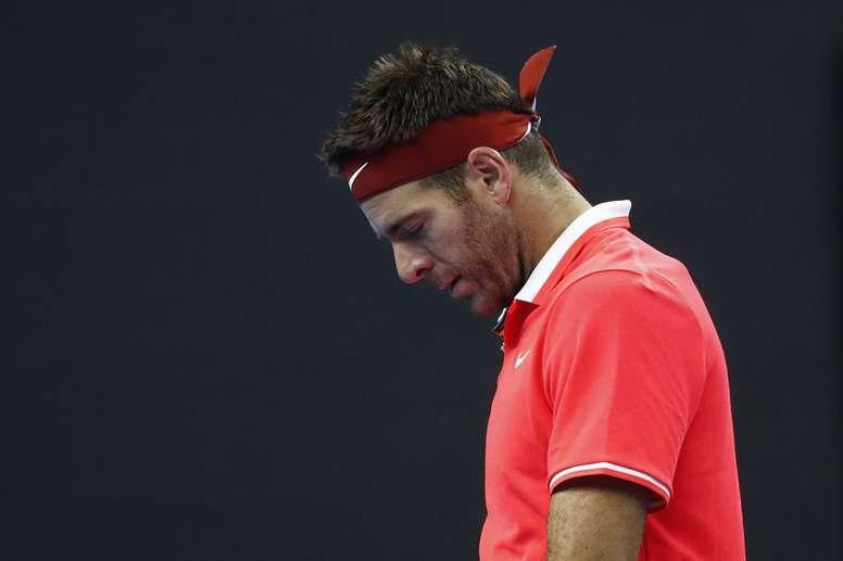 El tenista argentino Juan Martín del Potro, durante un partido disputado el pasado domingo. EFE