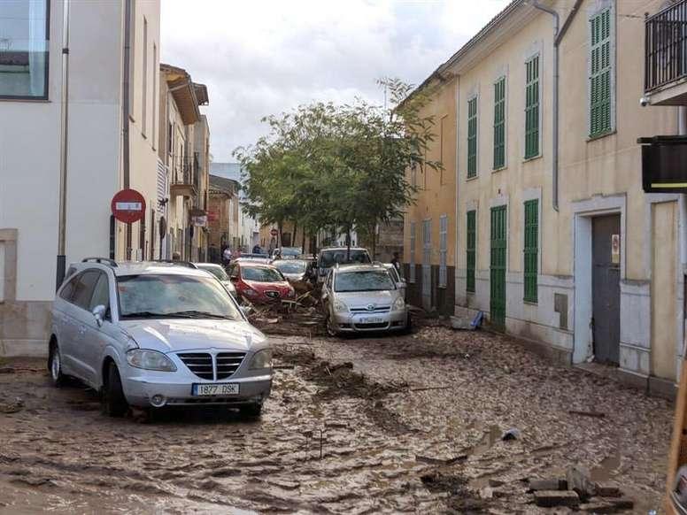Las lluvias torrenciales dejaron varios muertos en Mallorca. EFE