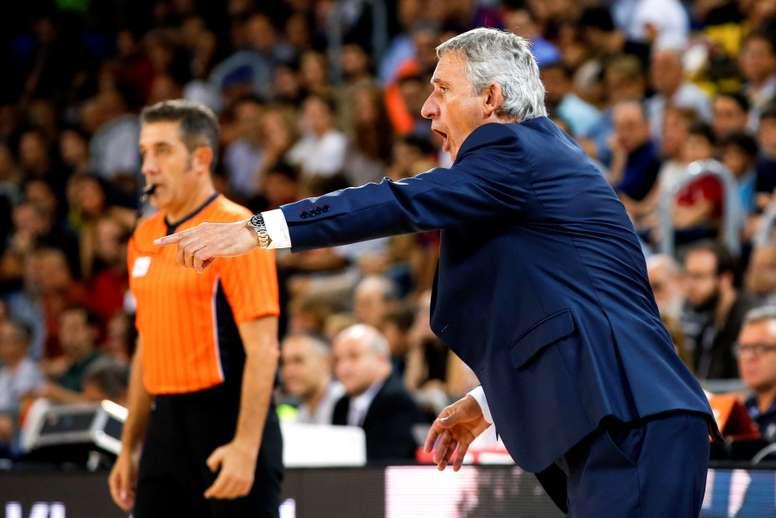 El entrenador del Barcelona Lassa, Svetislav Pesic. EFE