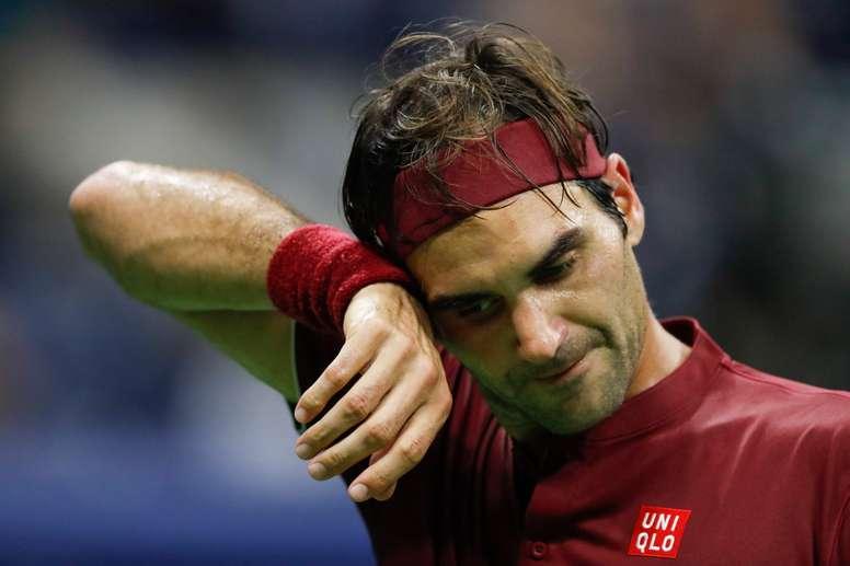 El suizo Roger Federer en el Abierto de Tenis de Estados Unidos en el Centro Nacional de Tenis USTA en Flushing Meadows en Nueva York (EE.UU.). EFE/Archivo