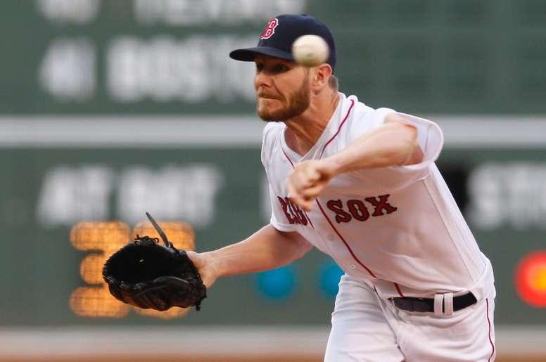 El lanzador Chris Sale de los Medias Rojas de Boston. EFE/Archivo
