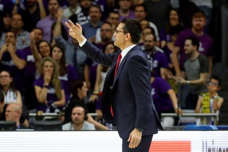 El entrenador del Baskonia, Pedro Martínez. EFE/Archivo