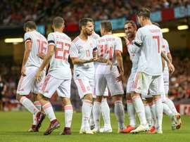 Les compos officielles du match de qualifications à l'Euro entre la Roumanie et l'Espagne. EFE