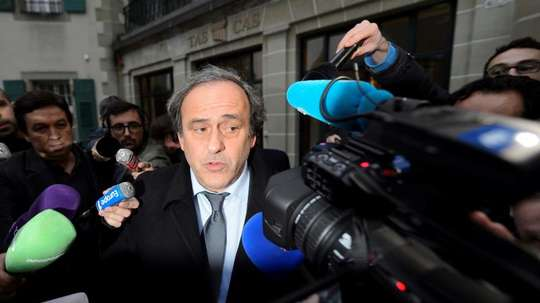 Platini believes others conspired against him. EFE
