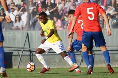 Brasil Sub 20 reservó a los dos cracks... y fue demasiado tarde. EFE