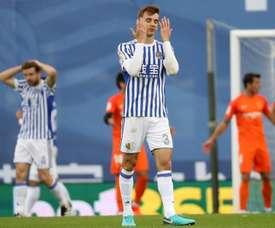 Diego Llorente tiene molestias en la pantorrilla izquierda. EFE/Archivo