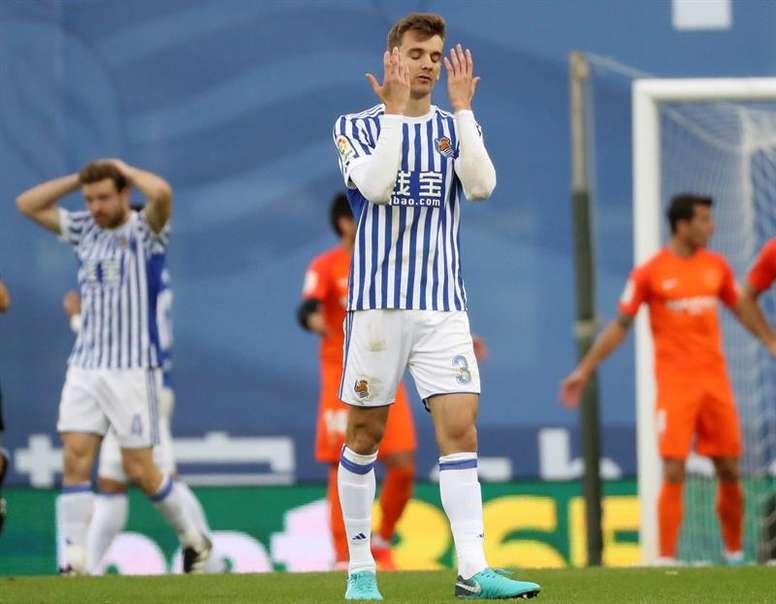 Diego Llorente est à la Real Sociedad jusqu'en 2022. EFE/Archive