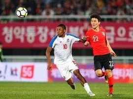 Panamá y Corea del Sur empataron a dos. EFE