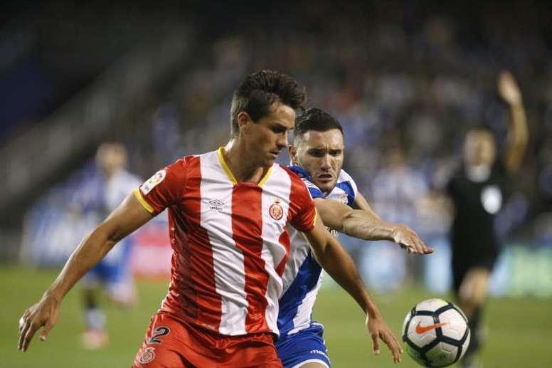 El Girona empató a uno ante el Getafe. EFE