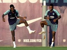 El Barça contó con los siete internacionales ausentes durante toda la semana. EFE