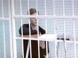 Alexander Kokorin se encuentra en prisión desde hace más de un mes. EFE/Archivo