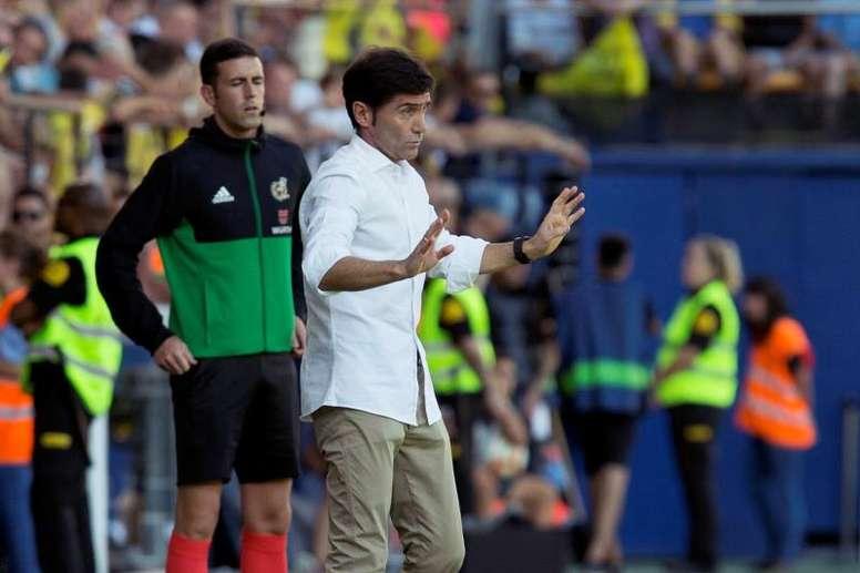 Marcelino y la similitud con su salida del Villarreal. EFE/Archivo