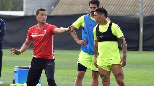 Chimy Ávila se lesionó en el entrenamiento de este jueves. EFE