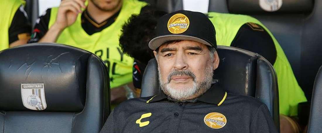 Maradona está llevando a la senda del triunfo a Dorados. EFE