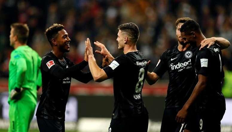 El Eintracht de Frankfurt sigue quinto de la Bundesliga. EFE/Archivo