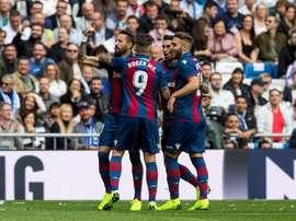 El Levante ganó en el Bernabéu. EFE