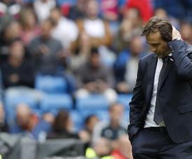 Lopetegui fue objeto de burla en el Camp Nou. EFE
