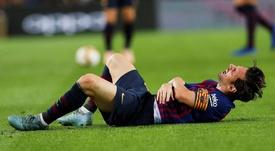 Peligra el 'Clásico' para Messi. EFE